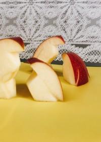 ◇りんごの赤ちゃんペンギン◇切り方
