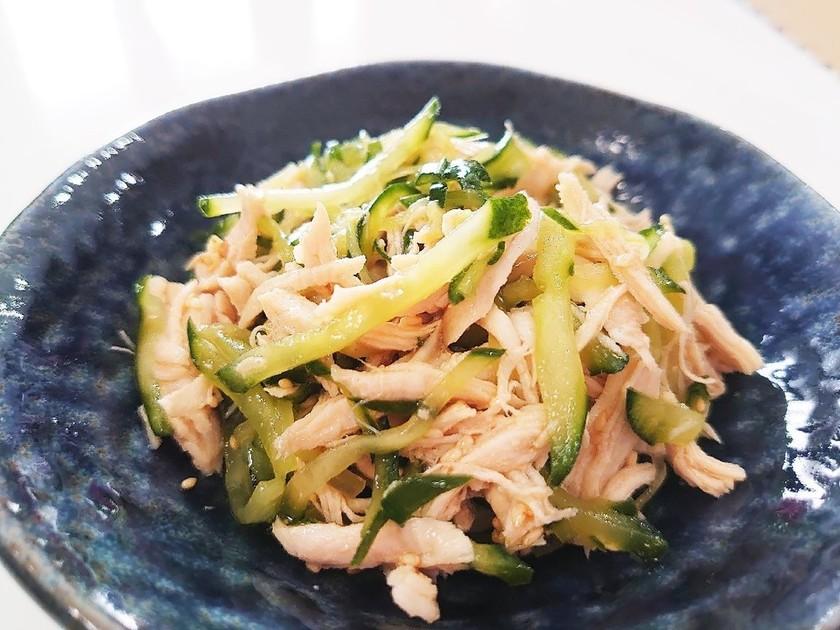 やみつき!きゅうりとササミ肉の中華サラダ