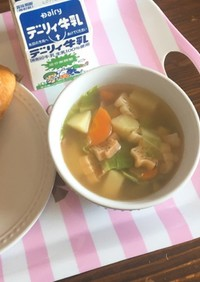 給食レシピ…ABCマカロニスープ