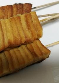 パン耳のフレンチトースト串焼き♪