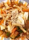 全てレンジ肉なし豆腐春雨キムチ炒め煮