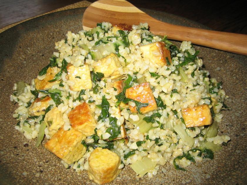 玄米と青菜のリゾット風