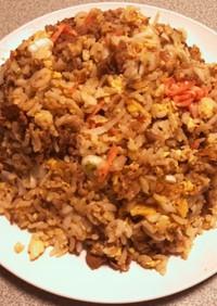 【簡単】すき家の牛丼チャーハン