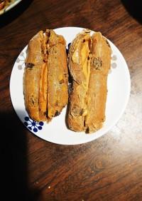 ピーナッツバターレーズンコッペパン