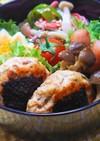 ◆お弁当に♪鶏ときのこの簡単つくねバーグ