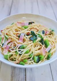 簡単★ベーコンと小松菜のペペロンチーノ