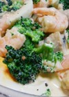 海老とマッシュルームのブロッコリーサラダ