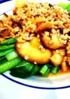 中華東北料理 椎茸とチンゲン菜(小松菜)