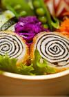 ◆お弁当に♪ぐるぐる豚肉の梅肉ロールカツ
