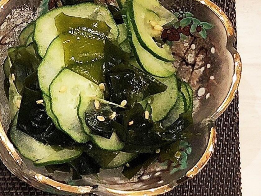 きゅうりとわかめの酢の物☆簡単副菜
