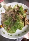 塩ダレ豚レタス炒め