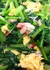 小松菜とカニカマのチャーハンの素炒め