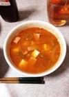 コチュジャンたっぷりのチゲ風スープ