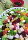 アボカド・ビーツ・豆腐の和風サラダ