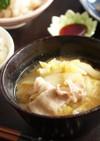 豚バラと白菜のお味噌汁