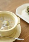 根菜と牡蠣の味噌ミルクスープ