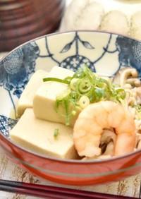 高野豆腐と海老の煮物