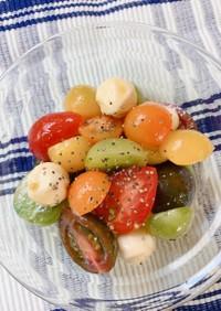 カラフルミニトマトとチーズのハニーマリネ