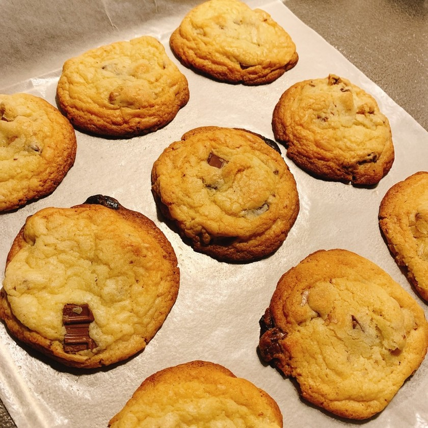 簡単 ワンボールチャンククッキー