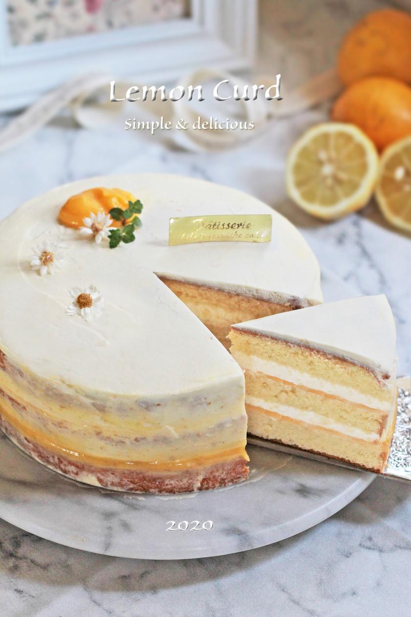 Natural*レモンカードのケーキ