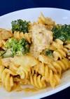 白菜のクリームパスタ