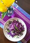豆苗紫キャベツのナムル