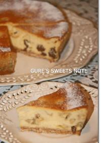 バナナとラムレーズンのチーズケーキ
