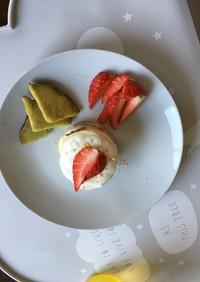 HM使用 簡単1歳の誕生日ケーキ!