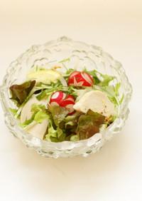 水菜とチキンのフレンチドレッシングサラダ