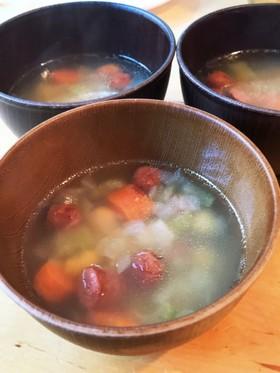 【簡単ランチに!】具沢山な偉いスープ