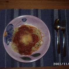 簡単・簡単!トマトツナスパゲッティー