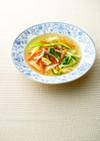 鶏だしの春野菜スープ