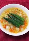 角切り野菜とオクラの食べるカレースープ