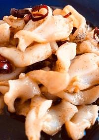 つぶ貝のペペロンチーノ