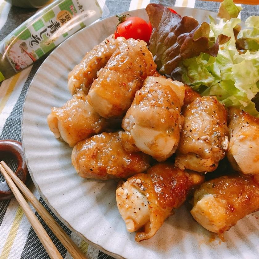 簡単♡きざみ青じそde豆腐の豚バラ巻き