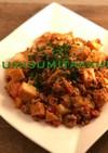 焼いて美味しい絹厚揚げでトマト麻婆豆腐
