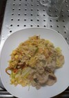 卵とじの野菜炒め