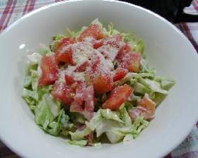 キャベツとトマトのガーリックチーズ風味のサラダ__Cabbage&Tomato Salad with Garlic&Cheese Mayonnaise dressing