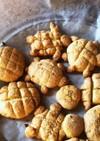 天ぷら粉*子どもと作るメロンパンクッキー