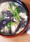 生きくらげとかぶの葉の簡単中華スープ