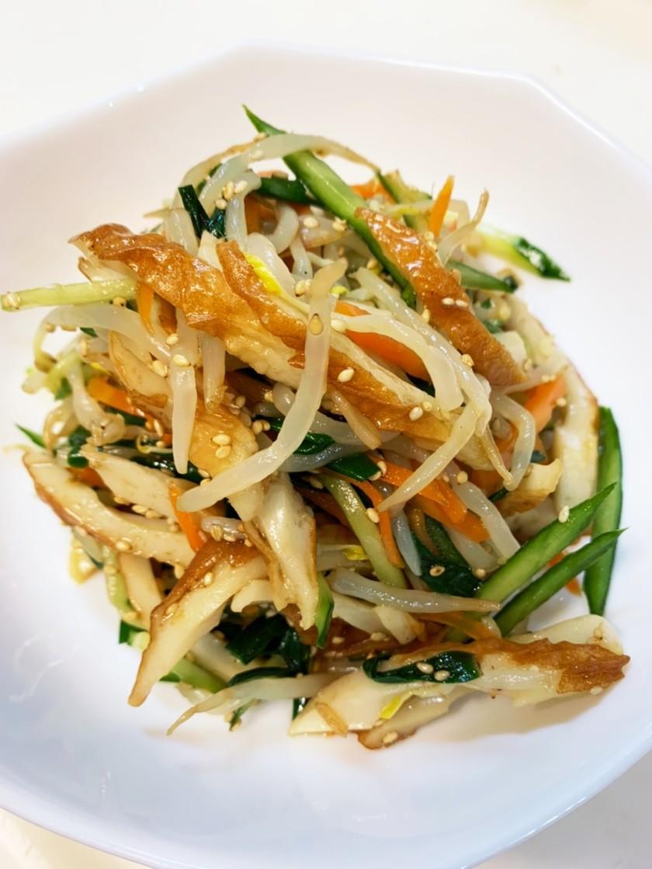 たっぶりもやしとちくわの中華サラダ