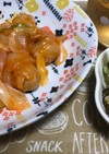 カンタン酢で肉団子の甘酢炒め