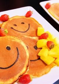 笑顔いっぱい幸せのスマイルパンケーキ