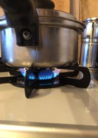 中火の加減で料理します