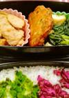 鶏の味噌漬けと小松菜の炊いたんのお弁当