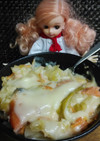 リカちゃん♡鮭とキャベツ酒粕グラタン♪