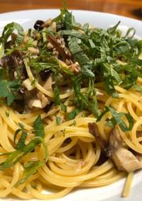 オイルサーディンと大葉のスパゲティ
