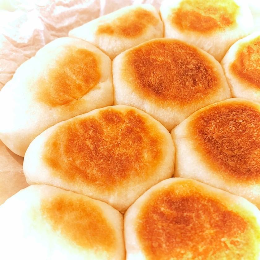 フライパンで!ほぼ発酵なしちぎりパン♪