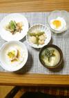 ヨウサマの減塩朝食㉜(煮卵朝食)