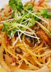 きのこと茄子の醤油スパゲティ